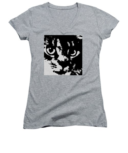 Look Into My Eyes Women's V-Neck (Athletic Fit)