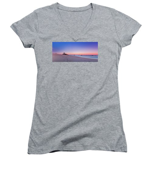 Looking Into The Distance Women's V-Neck