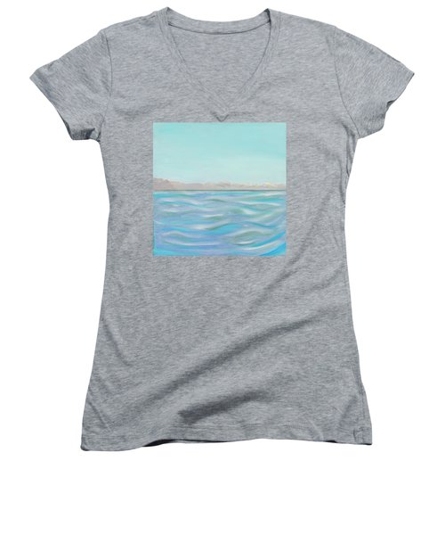 Looking South Tryptic Part 1 Women's V-Neck (Athletic Fit)