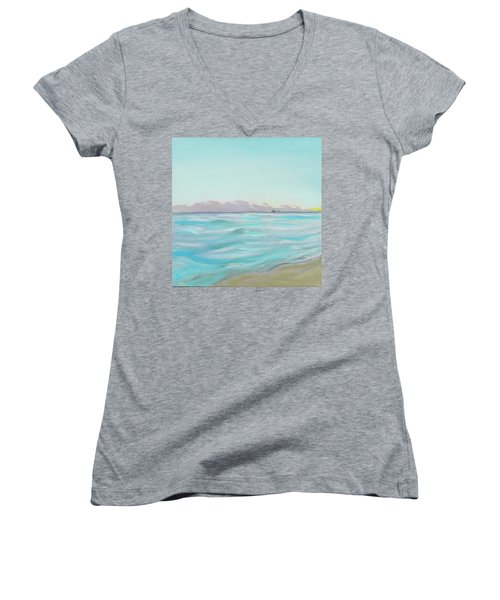 Looking South Tryptic Part 2 Women's V-Neck (Athletic Fit)