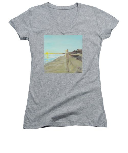Looking South Tryptic Part 3 Women's V-Neck (Athletic Fit)