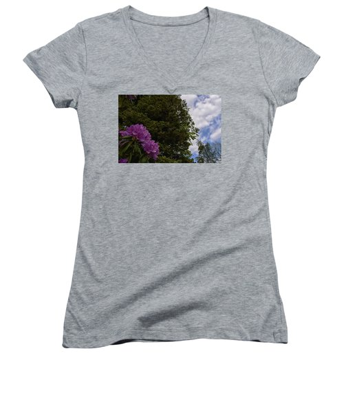 Looking To The Sky Women's V-Neck
