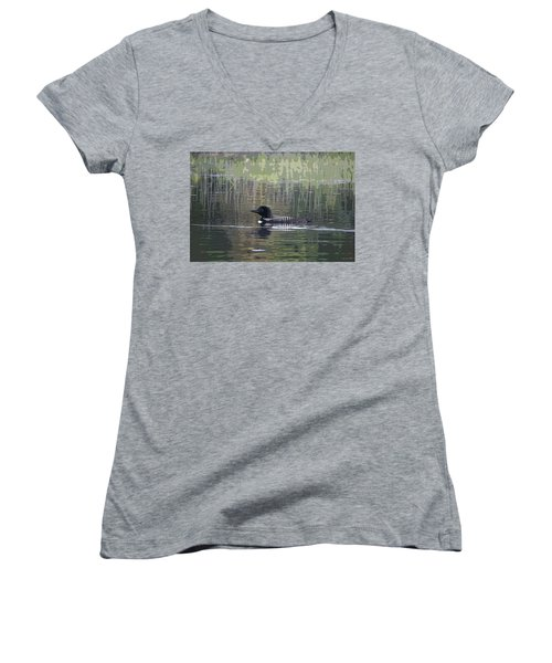 Loon Women's V-Neck T-Shirt