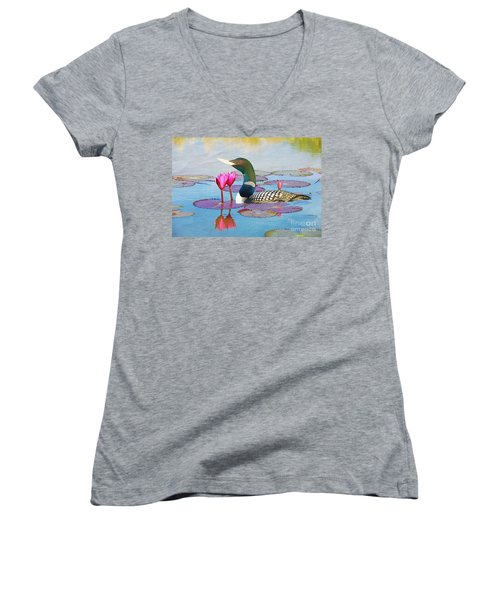 Loon And Lotus Women's V-Neck (Athletic Fit)