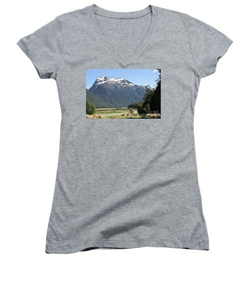 Lord Of The Rings Locations, New Zealand Women's V-Neck (Athletic Fit)