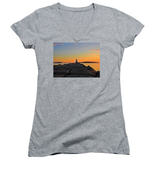 Lost In The Sunrise Women's V-Neck