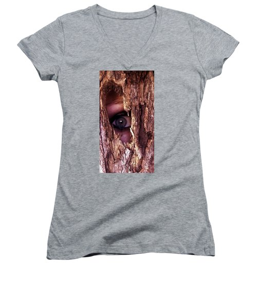 Lost In The Woods Women's V-Neck T-Shirt