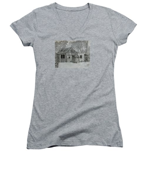 Lost In The Woods  Women's V-Neck T-Shirt (Junior Cut) by Tony Clark