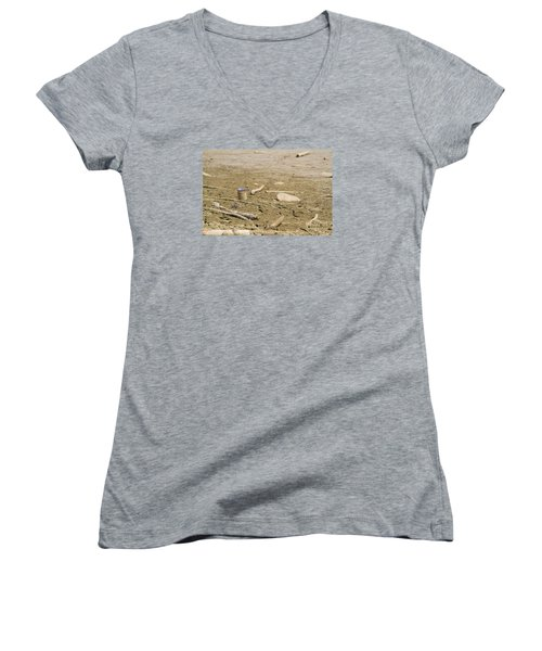 Lost Message In A Bottle Women's V-Neck T-Shirt