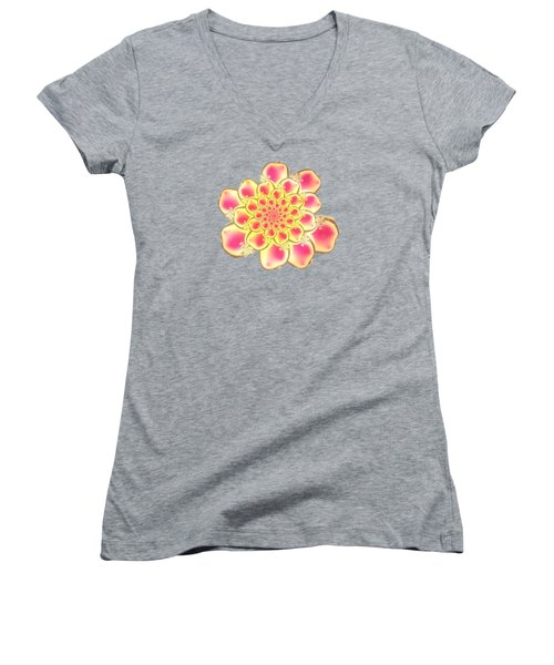 Lotus Women's V-Neck T-Shirt (Junior Cut) by Anastasiya Malakhova