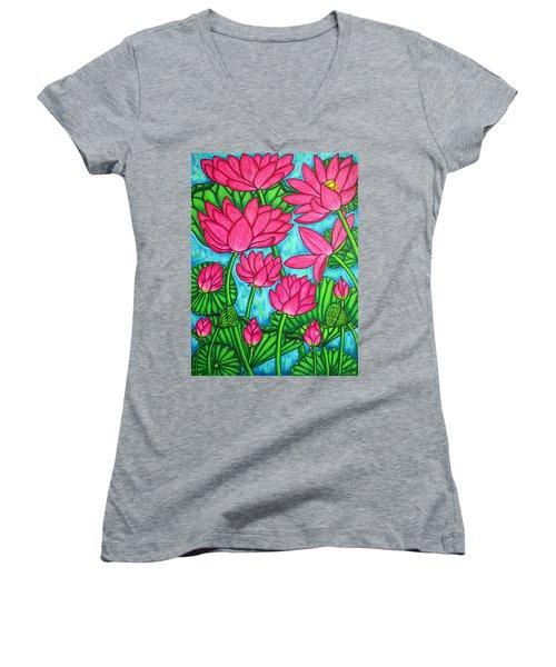 Lotus Bliss Women's V-Neck