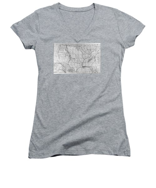 Louisiana Purchase Map Women's V-Neck (Athletic Fit)