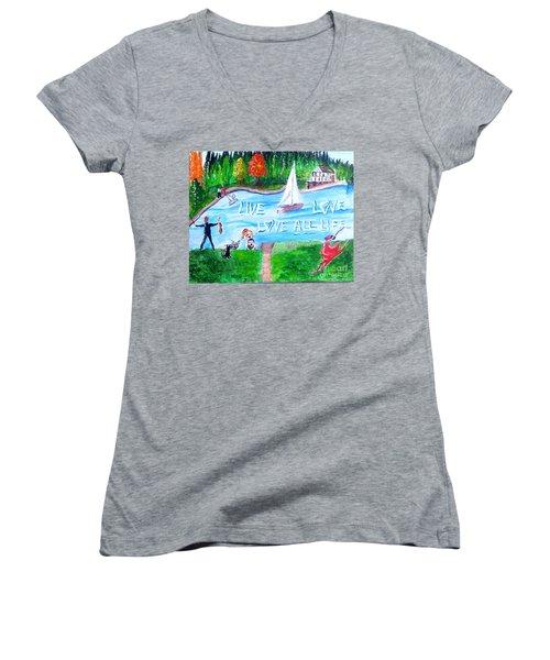 Love All Life Women's V-Neck T-Shirt