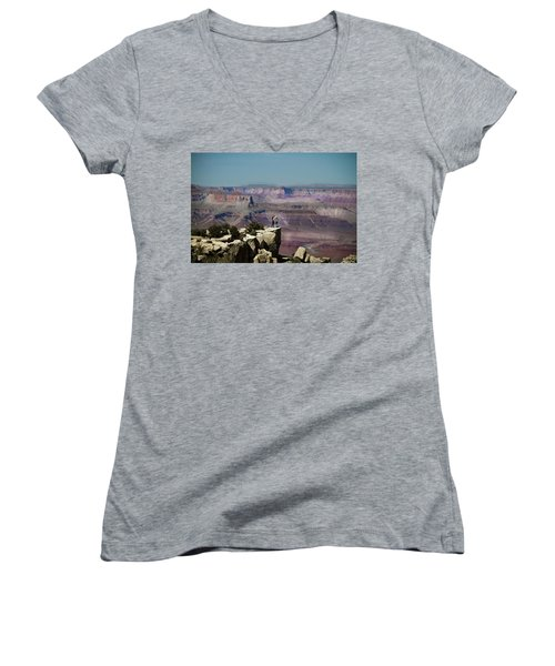 Love At The Grand Canyon Women's V-Neck T-Shirt