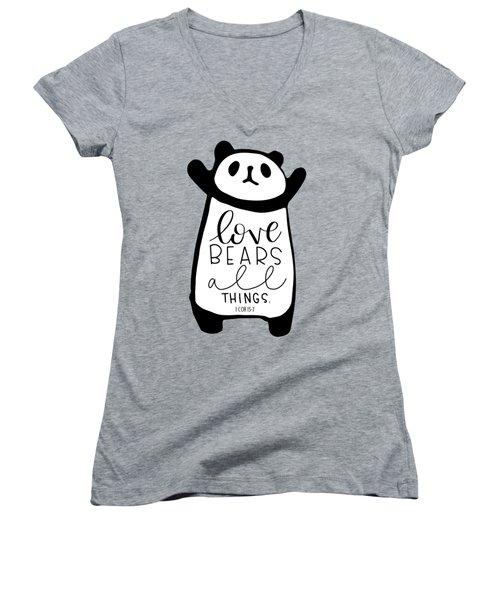 Love Bears All Things Women's V-Neck