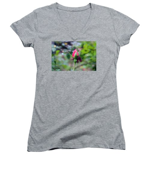Love Blooming Women's V-Neck