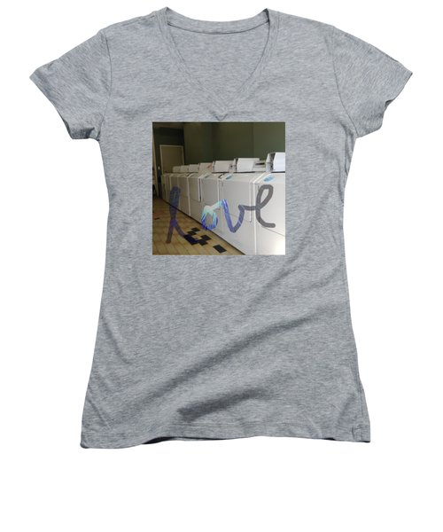 Love Women's V-Neck T-Shirt