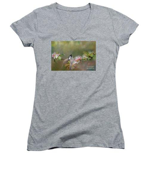 Love Couple Women's V-Neck T-Shirt (Junior Cut) by Eva Lechner