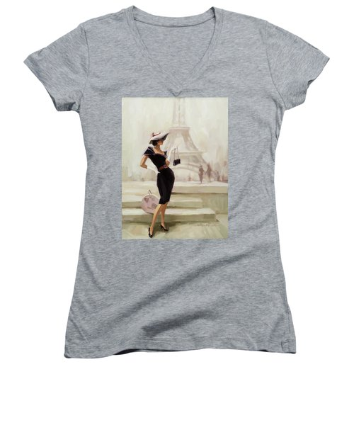 Love, From Paris Women's V-Neck (Athletic Fit)