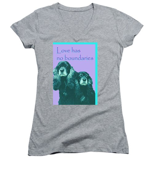 Love Had No Boundaries Women's V-Neck (Athletic Fit)