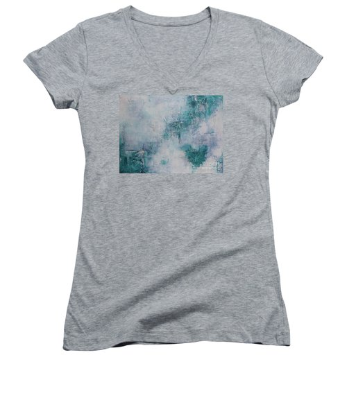 Love In Negative Spaces Women's V-Neck (Athletic Fit)