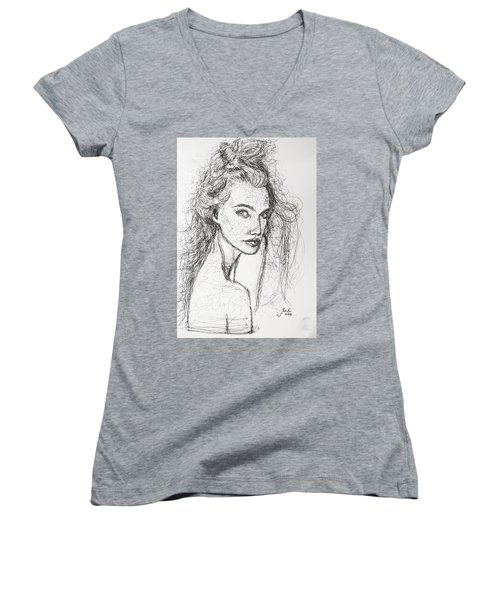 Love Is A Many-splendored Thing Women's V-Neck T-Shirt (Junior Cut) by Jarko Aka Lui Grande