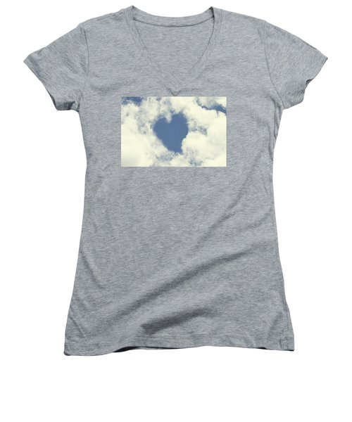 Women's V-Neck T-Shirt (Junior Cut) featuring the photograph Love Is In The Air by Peggy Collins