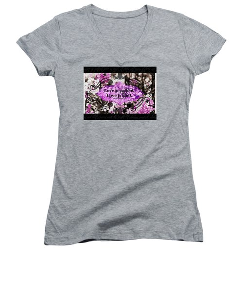 Love Is Kind Women's V-Neck (Athletic Fit)