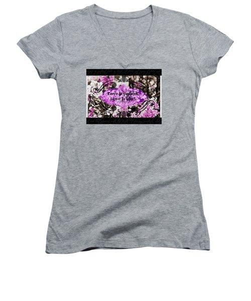Love Is Kind Women's V-Neck T-Shirt