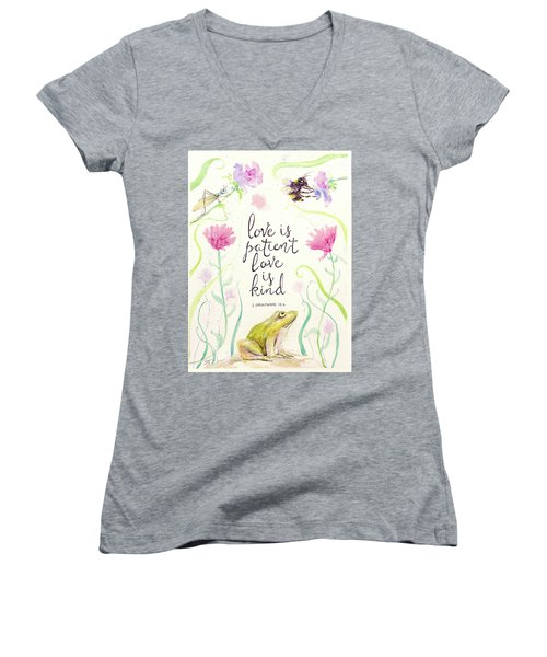 Love Is Patient Women's V-Neck