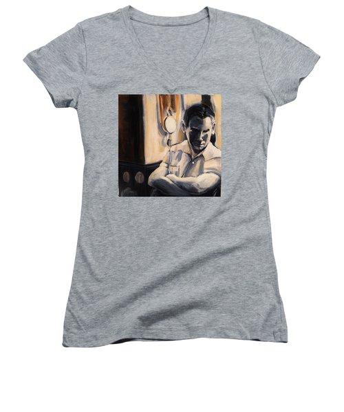 Love Is So Short Women's V-Neck T-Shirt (Junior Cut) by Jean Cormier