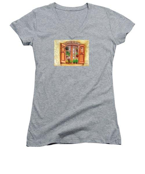 Love Nest Women's V-Neck T-Shirt