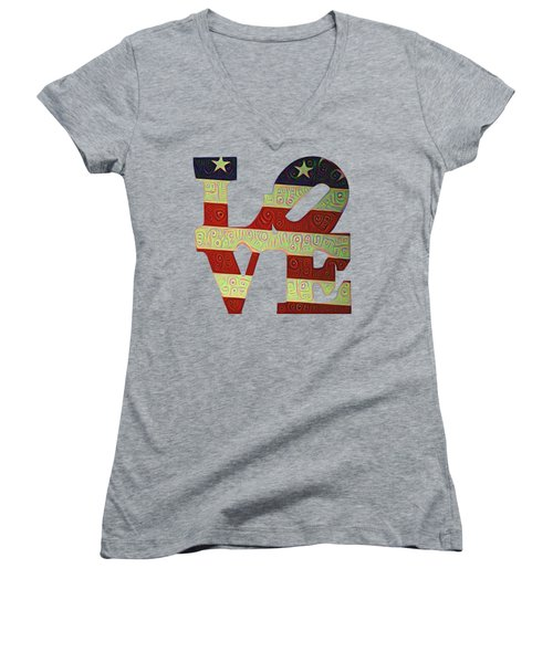 Love The Usa Women's V-Neck