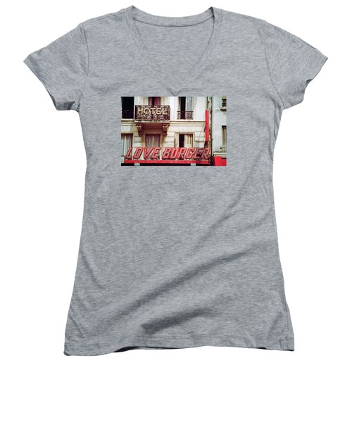 Loveburger Hotel Women's V-Neck