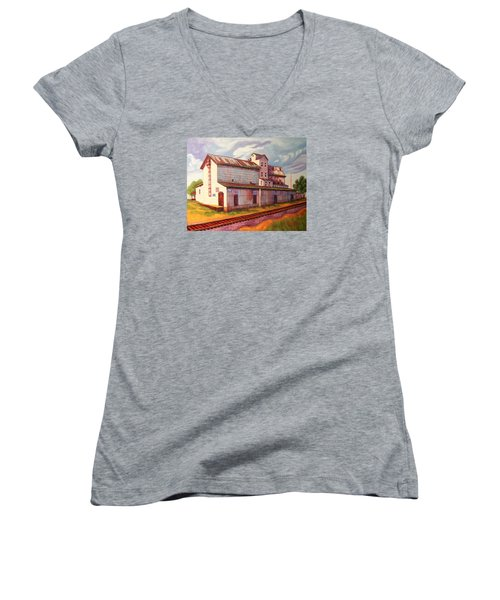 Loveland Feed And Grain Mill Women's V-Neck (Athletic Fit)