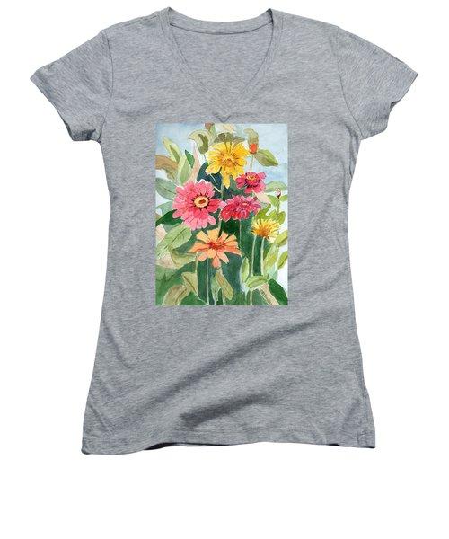 Lovely Flowers Women's V-Neck