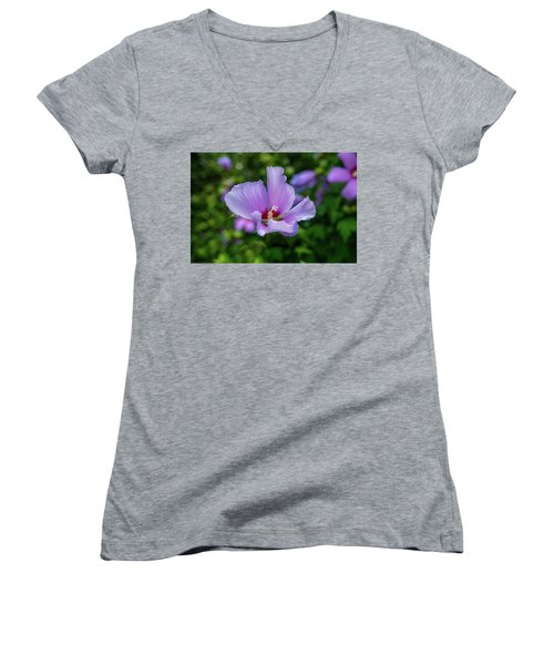 Lovely Hibiscus Women's V-Neck