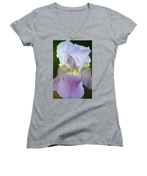 Women's V-Neck T-Shirt (Junior Cut) featuring the photograph Lovely In Lavender by Sheila Brown