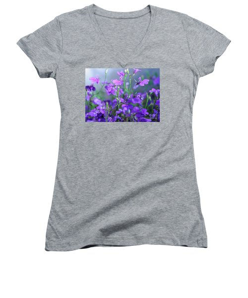 Lovely Lobelia Women's V-Neck T-Shirt