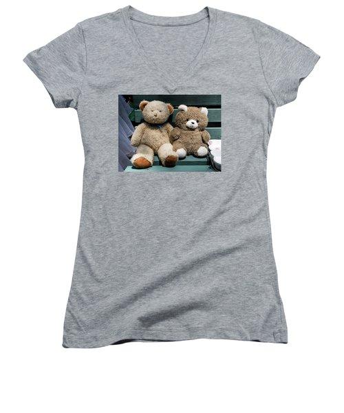 Lovers Women's V-Neck T-Shirt (Junior Cut) by Yoel Koskas