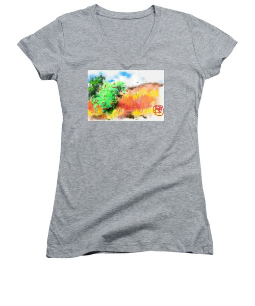 lovin Idaho autumn Women's V-Neck T-Shirt