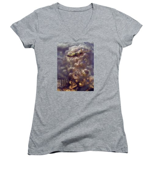 Low Level Attack Women's V-Neck T-Shirt