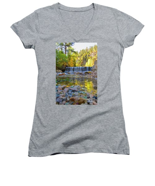 Low Look At The Falls Women's V-Neck T-Shirt