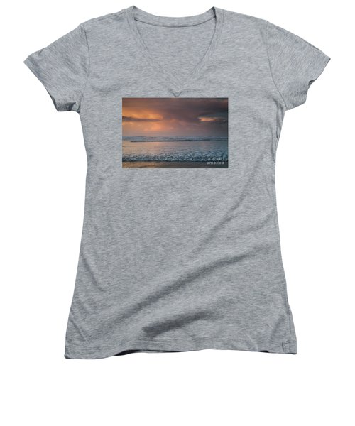 Low Tide  Women's V-Neck T-Shirt (Junior Cut) by Iris Greenwell