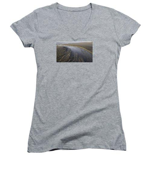 Low Tide Morning Women's V-Neck T-Shirt