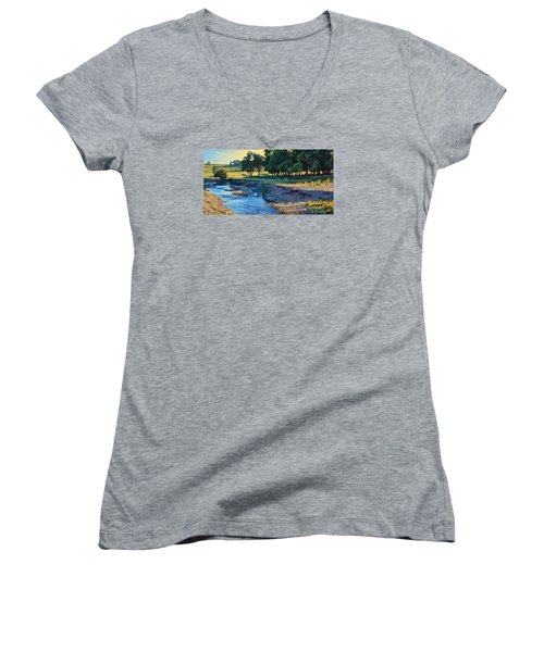 Low Water Morning Women's V-Neck (Athletic Fit)