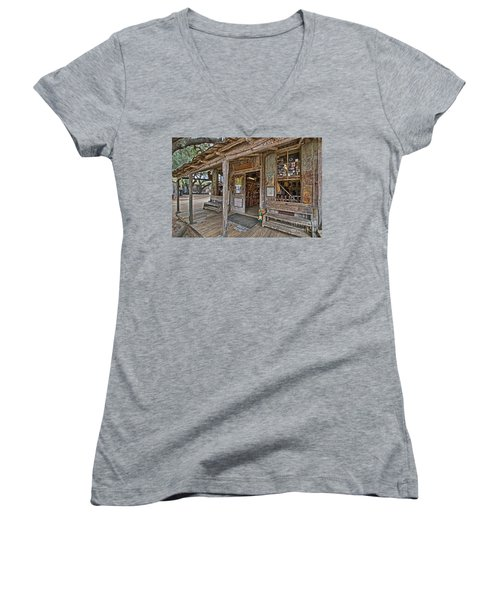 Luckenbach Post Office And General Store_4 Women's V-Neck