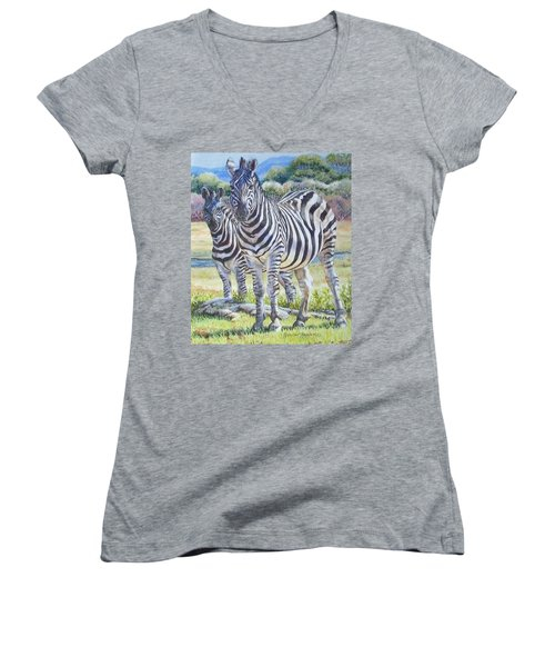 Lucky Stripes Women's V-Neck (Athletic Fit)