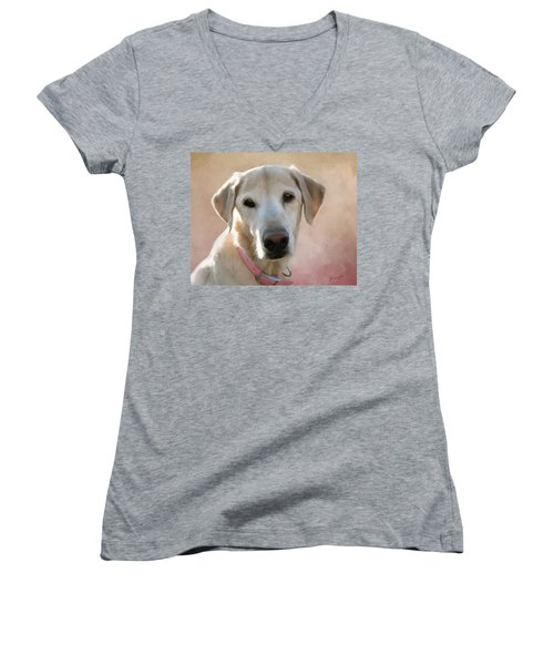 Lucy In Pink Women's V-Neck