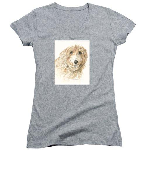 Lucy Women's V-Neck T-Shirt (Junior Cut) by Meagan  Visser